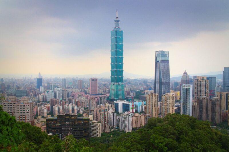 101 tower and Taipei digital nomad city