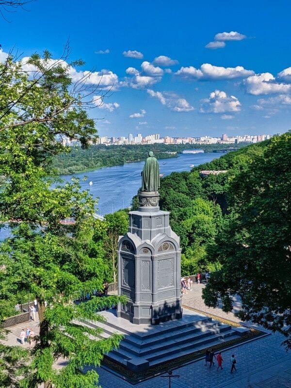 Volodymyr The Great Monument From Volodymyrka Hill Kyiv