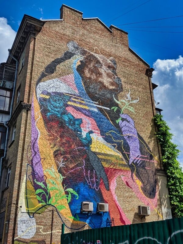 Bear Mural Kyiv