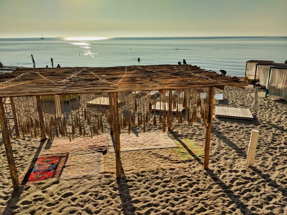Black Sea Beach At Sunrise