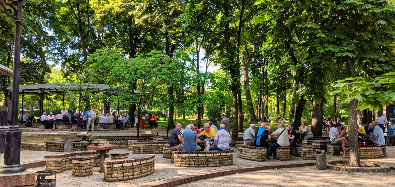 People Playing Chess In The Parks Of Kyiv