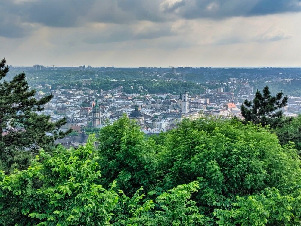 View Of Lviv From Mountain High Castle