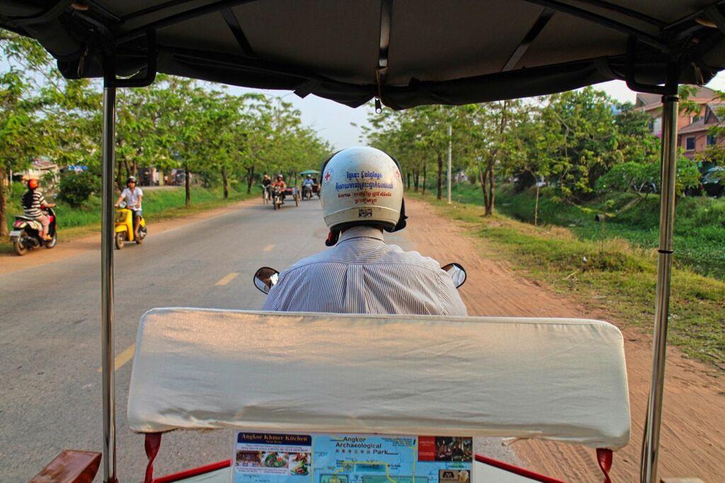 Tuk Tuk Travel On Visa Run In Siem Reap